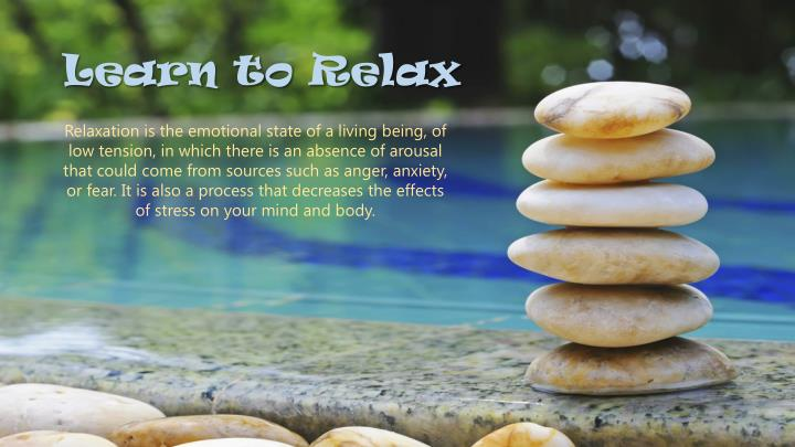 learn to relax n.