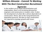 william almonte commit to working with the best construction recruitment agencies 1