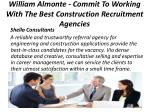 william almonte commit to working with the best construction recruitment agencies 3