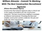 william almonte commit to working with the best construction recruitment agencies 5