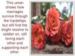 this union shows how marriages survive through