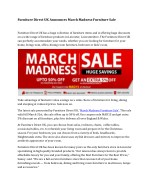 furniture direct uk announces march madness