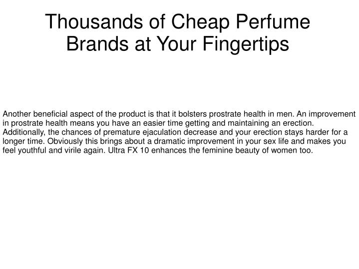 thousands of cheap perfume brands at your fingertips n.