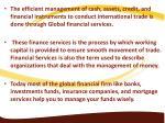 the efficient management of cash assets credit