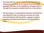 the international trading company you choose