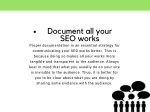 document all your seo works