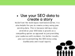 use your seo data to create a story