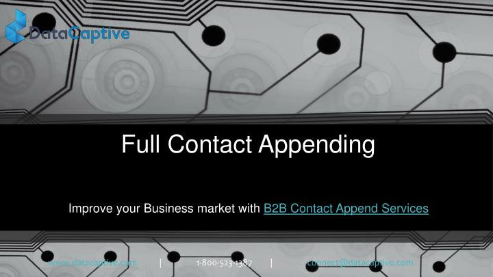 full contact appending n.
