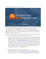 5 tips for worry free erp implementation