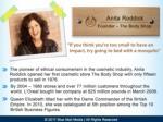 anita roddick founder the body shop if you think