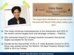 indra nooyi chairperson and ceo pepsico