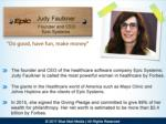 judy faulkner founder and ceo epic systems
