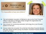 marianne lake cfo chase it s impossible to have