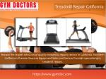 treadmill repair california