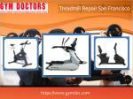 treadmill repair san francisco