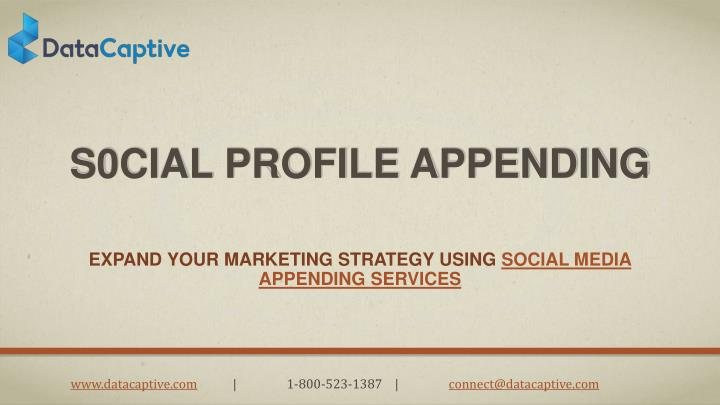 s0cial profile appending n.