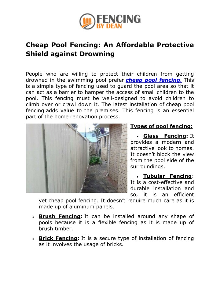 cheap pool fencing an affordable protective n.