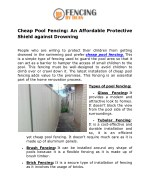 cheap pool fencing an affordable protective