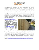 pool fencing is beneficial for both commercial