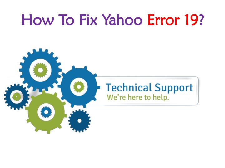 how to fix yahoo error 19 n.