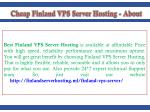best finland vps server hosting is available