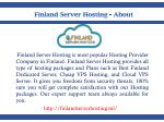 finland server hosting about