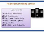 finland server hosting services