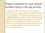 proper treatment for your bicycle accident injury is the top priority
