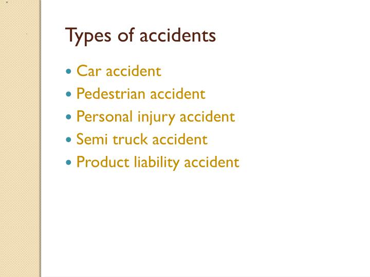 types of accidents n.