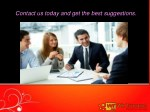 contact us today and get the best suggestions