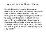 advertise your brand name