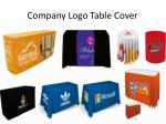 company logo table cover