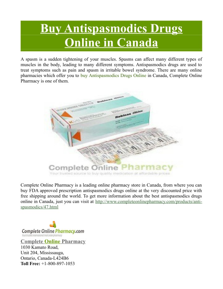 buy antispasmodics drugs online in canada n.