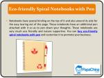 eco friendly spiral notebooks with pen
