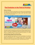 the evolution in the field of printing