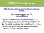 soc 262 successful learning 4