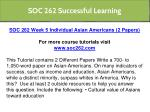 soc 262 successful learning 6