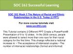 soc 262 successful learning 7
