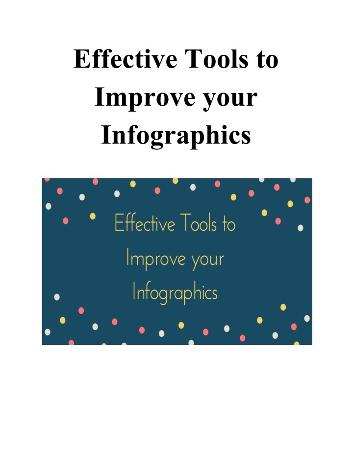effective tools to improve your infographics n.
