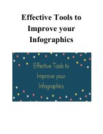 effective tools to improve your infographics