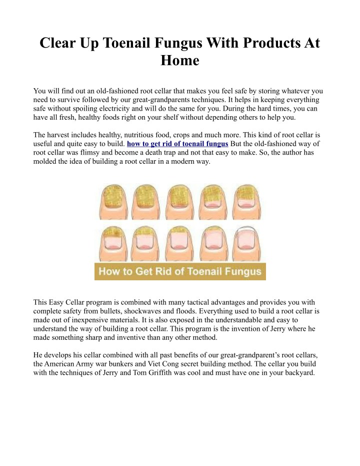 clear up toenail fungus with products at home n.