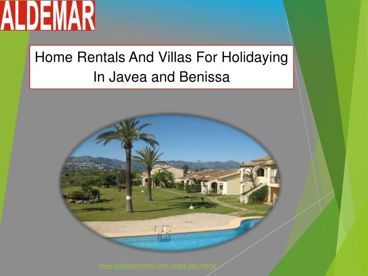 home rentals and villas for holidaying in javea n.
