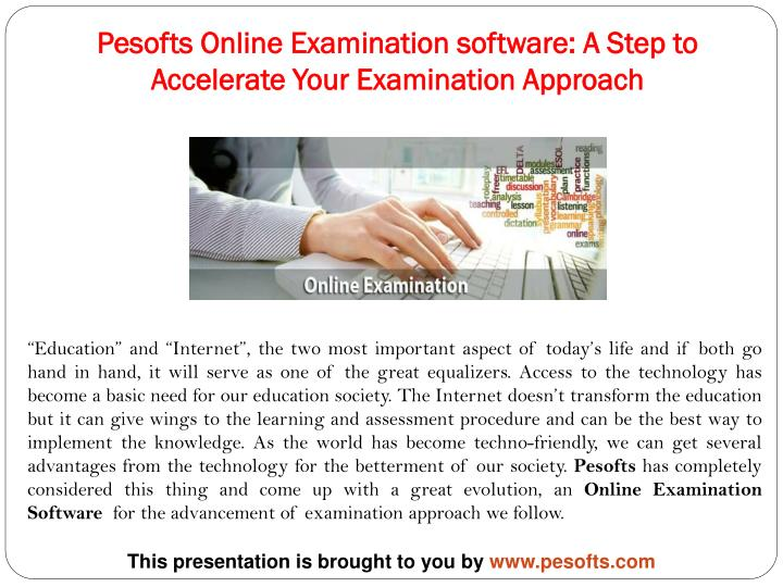 pesofts online examination software a step to accelerate your examination approach n.