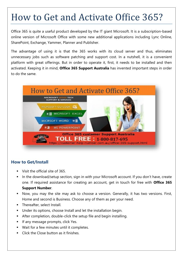 how to get and activate office 365 n.