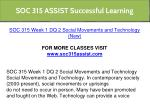 soc 315 assist successful learning 6