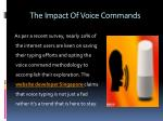 the impact of voice commands