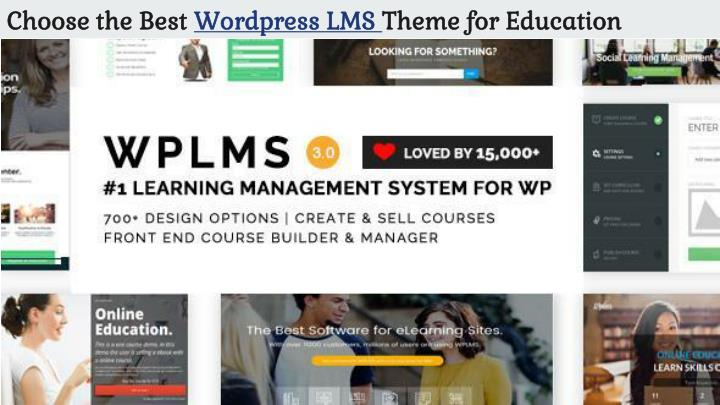 choose the best wordpress lms theme for education n.