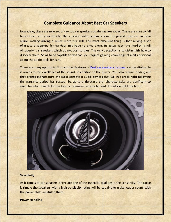 complete guidance about best car speakers n.