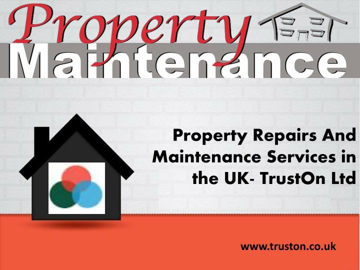 property repairs and maintenance services n.