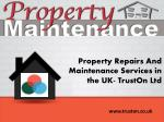 property repairs and maintenance services